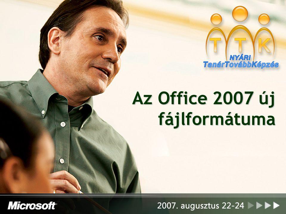 Az Office 2007 új fájlformátuma