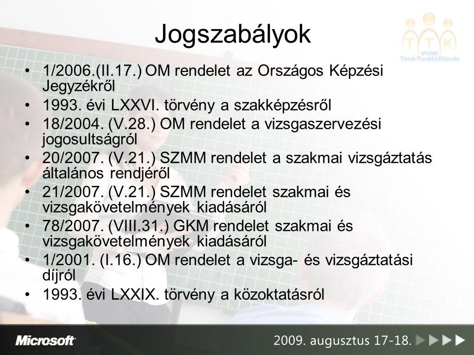 Új típusú OKJ-s szakképzések beindítása 2008.