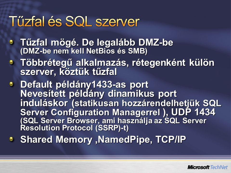Hitelesítés Alapértelmezett loginok Credential, Proxy Accountok