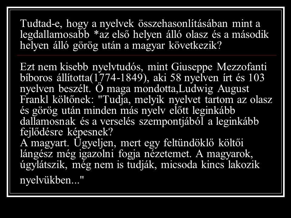 Tud tad -e, hogy a Magyar Zenetudományi Intézet regisztrálta a 200 000-ik magyar népdalt, amelyből 100 000 már megjelent nyomtatásban is.