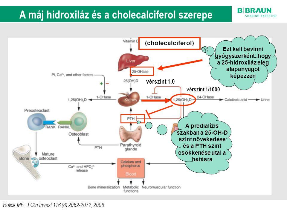 sl | Page9 Holick MF.: J Clin Invest 116 (8) 2062-2072, 2006. A D-vitamin anyagcsere szab á lyoz á si k ö rei (cholecalciferol) vérszint 1/1000 vérszi