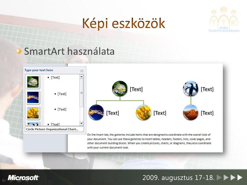 SmartArt használata