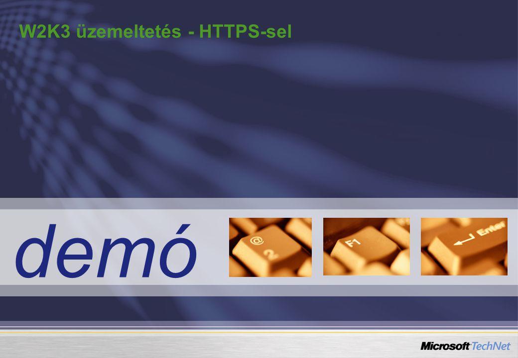 demó W2K3 üzemeltetés - HTTPS-sel
