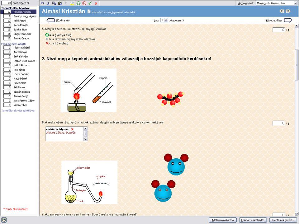 Tanár kliens használat feladatkezelő szoftverkomponens -feladatnaptár -segédeszközök (IMPORT) -szerkesztés (VARÁZSLÓ) -feladatkezelés -javítás (AUTOMA