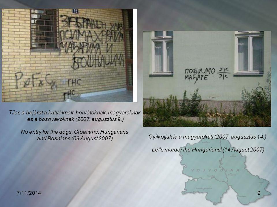 d) magyarellenes népirtás a Délvidéken 1944-1945-ben a jugoszláv katonai közigazgatás tisztogató osztagai szörnyű népirtást hajtottak végre a Délvidéken - szakértői becslések szerint -, több mint 20 000 (egyes becslések szerint az áldozatok száma elérheti a 40 000–et is) ártatlan magyart végeztek ki.