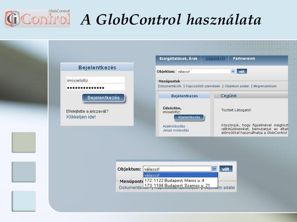 A GlobControl használata