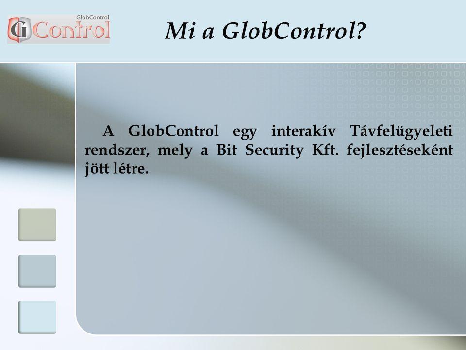 Mi a GlobControl. A GlobControl egy interakív Távfelügyeleti rendszer, mely a Bit Security Kft.
