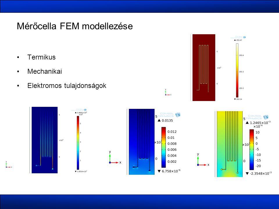 Mérőcella FEM modellezése Termikus Mechanikai Elektromos tulajdonságok