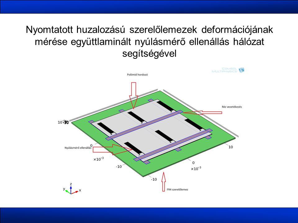 Nyomtatott huzalozású szerelőlemezek deformációjának mérése együttlaminált nyúlásmérő ellenállás hálózat segítségével