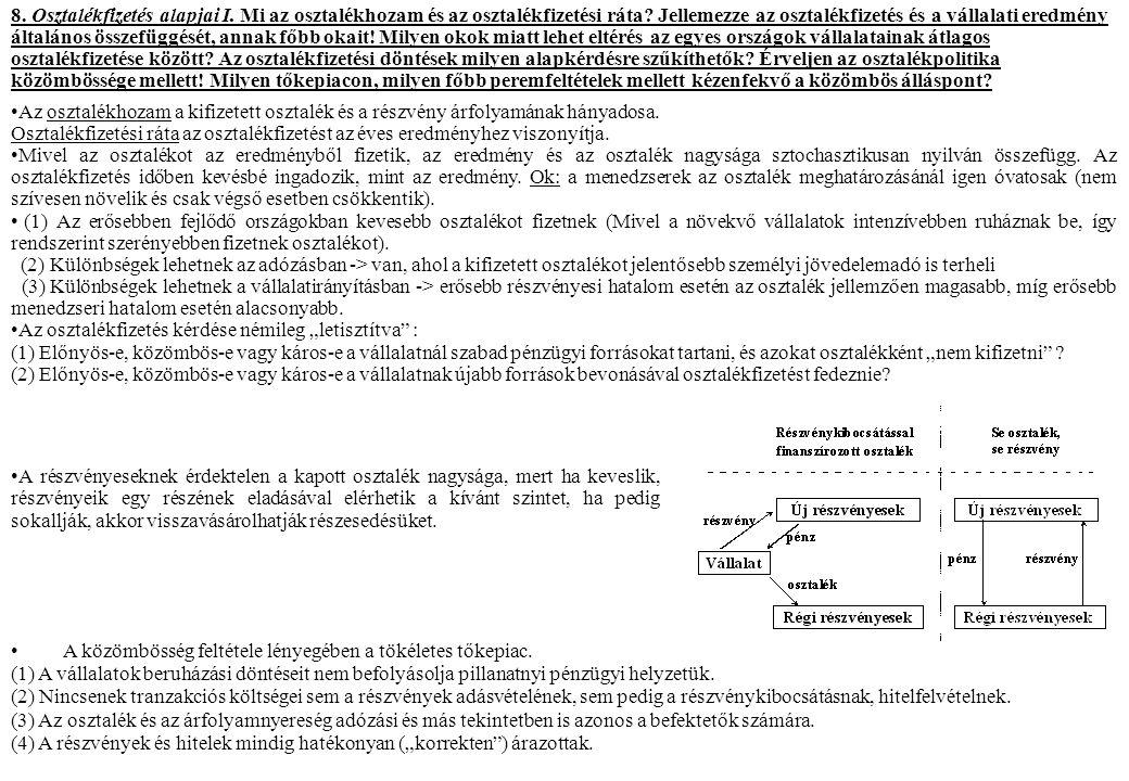 9.Osztalékfizetés alapjai II.