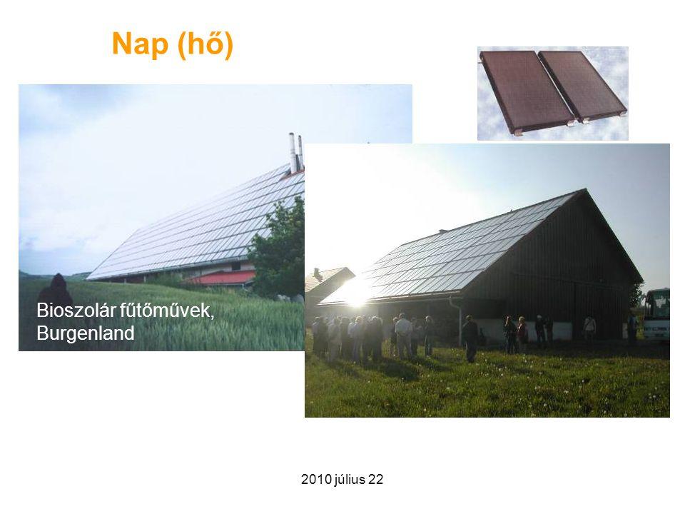 2010 július 22 Nap (hő) Bioszolár fűtőművek, Burgenland