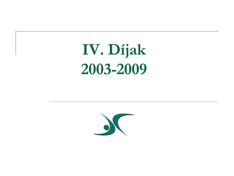 IV. Díjak 2003-2009