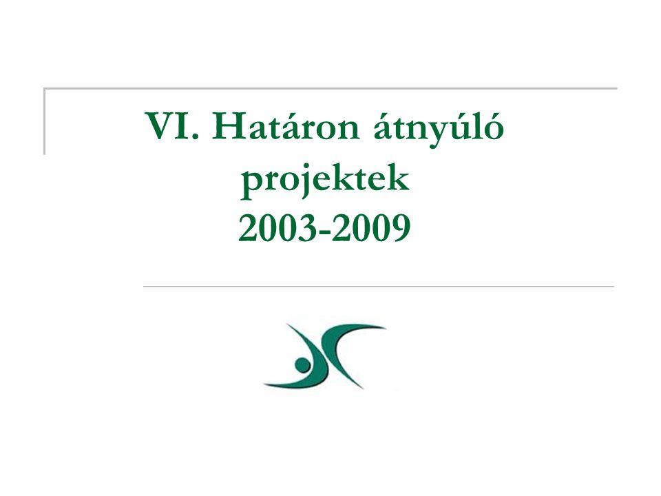 VI. Határon átnyúló projektek 2003-2009