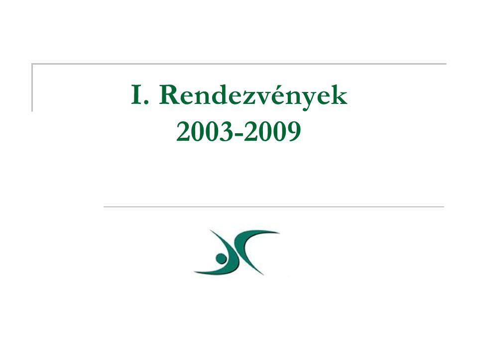 I. Rendezvények 2003-2009