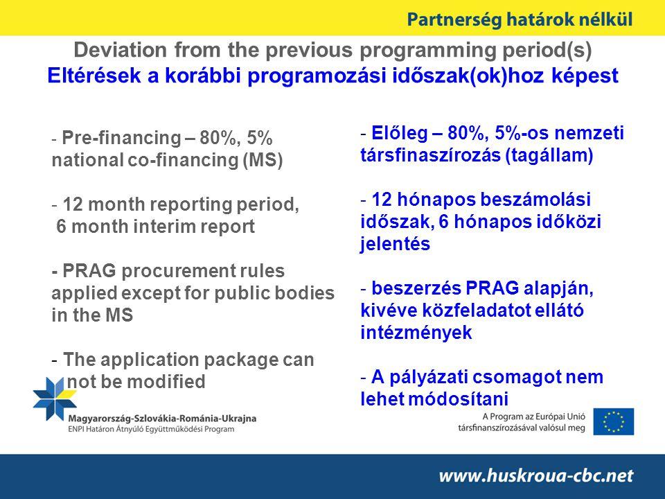 Guidelines for the applicants for the first call for proposal to the Hungary–Slovakia-Romania-Ukraine Programme ENPI CBC 2007-2013 Pályázati útmutató A Magyarország–Szlovákia-Románia-Ukrajna ENPI CBC Program 2007-2013 első pályázati felhívásához