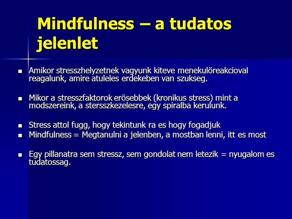 Mindfulness – a tudatos jelenlet Amikor stresszhelyzetnek vagyunk kiteve menekulöreakcioval reagalunk, amire atuleles erdekeben van szukseg. Amikor st