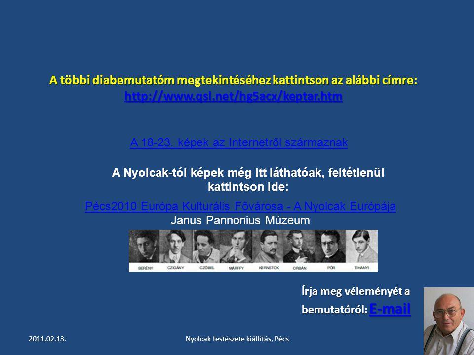 2011.02.13.Nyolcak festészete kiállítás, Pécs29 CZÓBEL Béla: Festők a szabadban