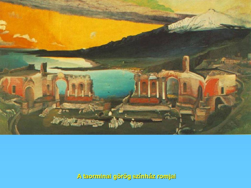 A taorminai görög színház romjai