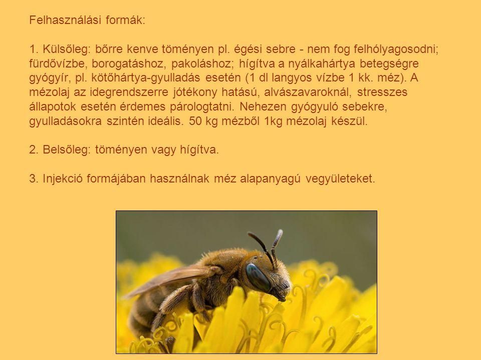 Az apiterápia más méhészeti termékeket is felhasznál gyógyításra, ilyen a virágpor, a propolisz, a méhpempő, a lépes méz, a méhméreg és a méhviasz.