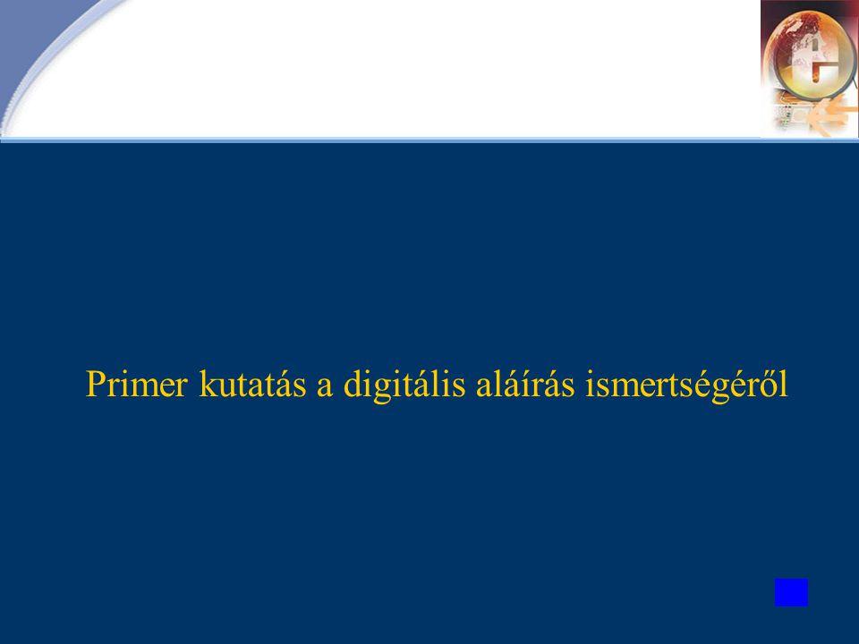 Primer kutatás a digitális aláírás ismertségéről