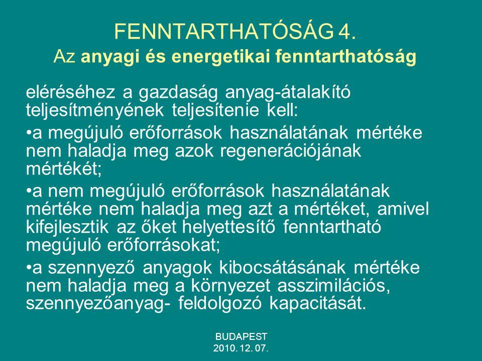 BUDAPEST 2010.12. 07. FENNTARTHATÓSÁG 4.