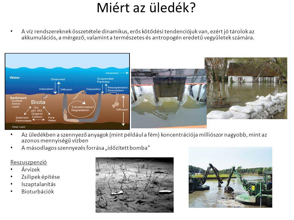 Miért az üledék? A víz rendszereknek összetétele dinamikus, erős kötődési tendenciójuk van, ezért jó tárolok az akkumulációs, a mérgező, valamint a te