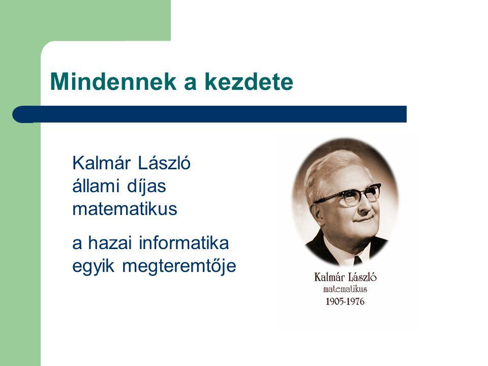Mindennek a kezdete Kalmár László állami díjas matematikus a hazai informatika egyik megteremtője
