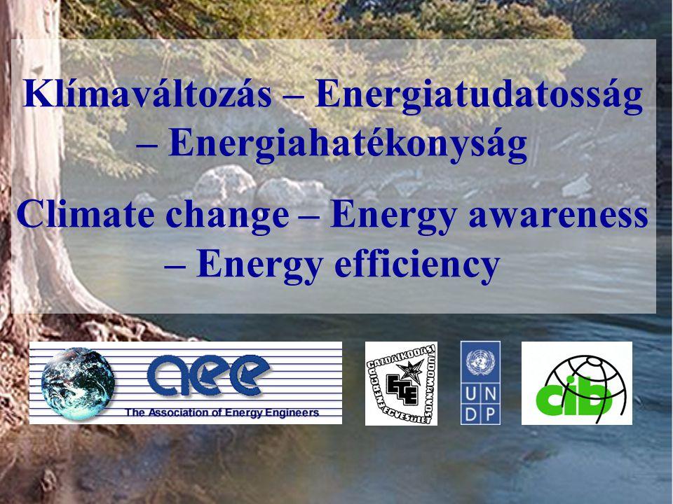 Klímaváltozás – Energiatudatosság – Energiahatékonyság Climate change – Energy awareness – Energy efficiency