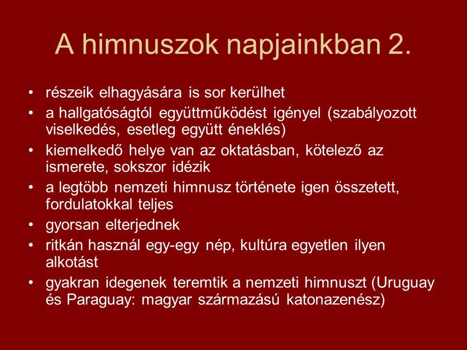 Hymnus 3.már 1845-től tankönyvi darab 1848.