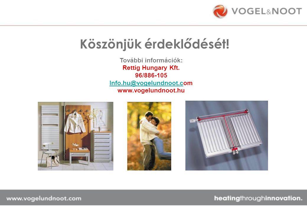 További információk: Rettig Hungary Kft. 96/886-105 Info.hu@vogelundnoot.cInfo.hu@vogelundnoot.com www.vogelundnoot.hu Köszönjük érdeklődését!