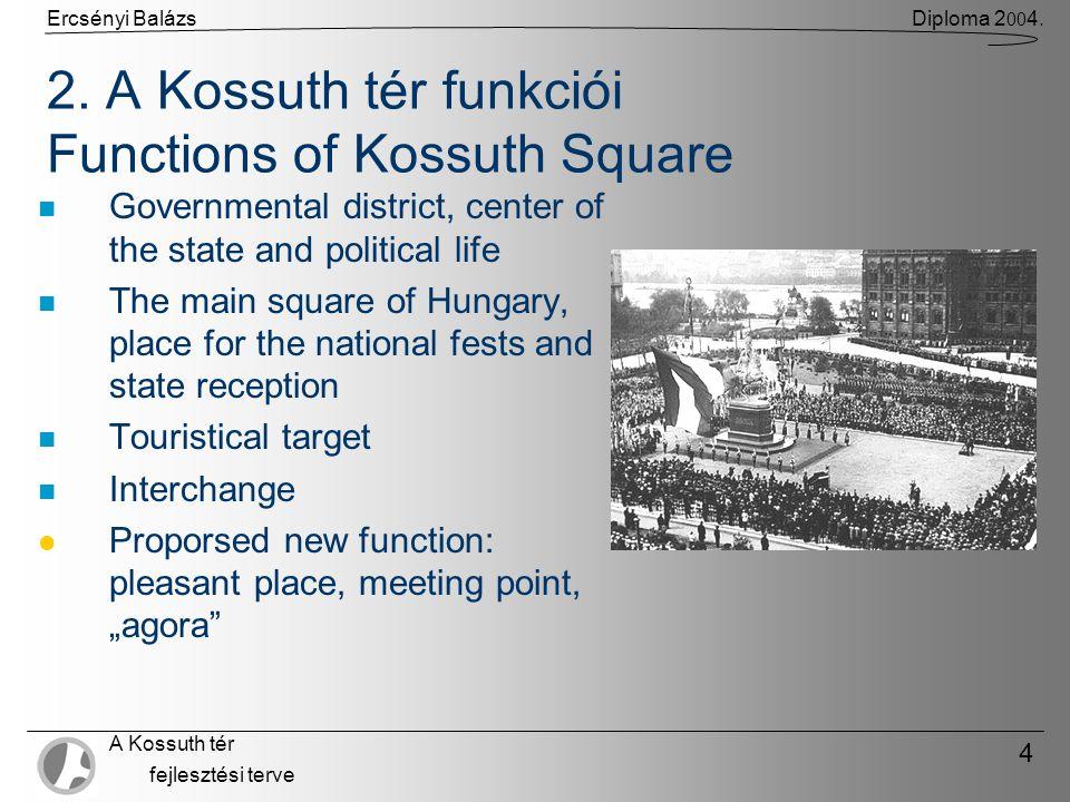 Ercsényi BalázsDiploma 2 00 4. A Kossuth tér fejlesztési terve 4 2.