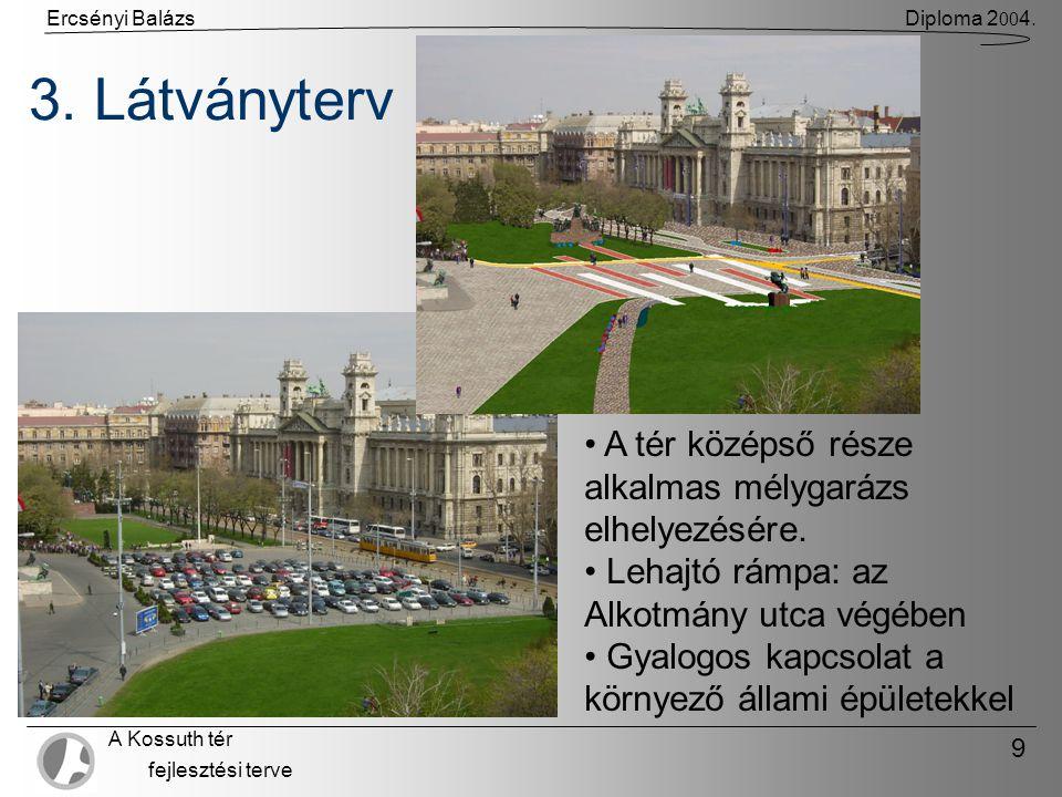 Ercsényi BalázsDiploma 2 00 4. A Kossuth tér fejlesztési terve 9 3.