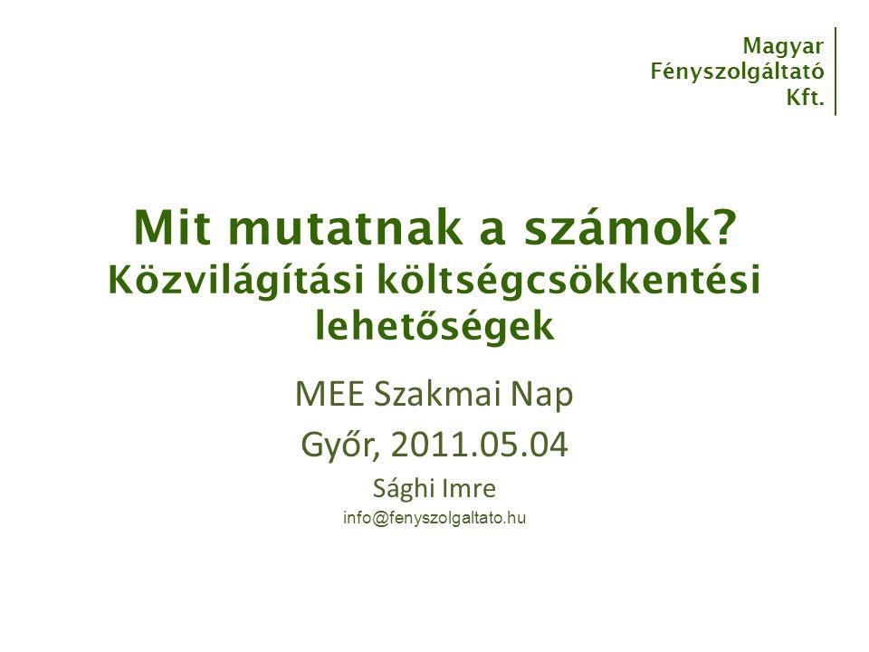 Magyar Fényszolgáltató Kft.Mit mutatnak a számok.