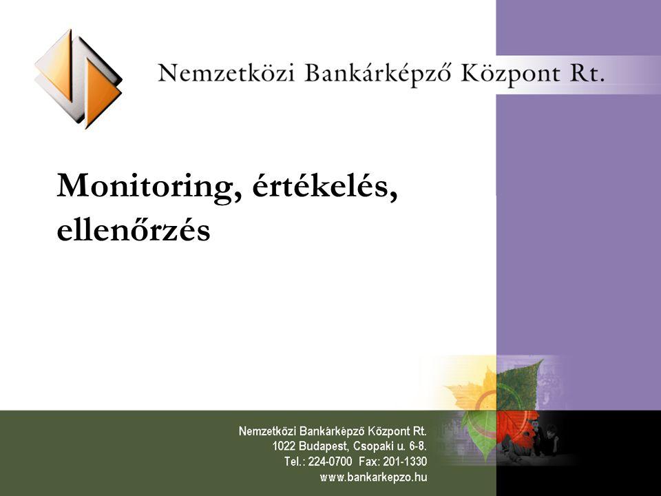 12 Monitoring Bizottság Operatív Programonként egy + KTK MB A megvalósításban résztvevő partnerekkel folytatott konzultáció eredményeként jön létre; elnöke a tagállam, vagy a Végrehajtó Hatóság képviselője Feladatai: –Elfogadja (és esetleg módosítja) a Programkiegészítőt –A VH által gyűjtött monitoring adatok, illetve a közbenső értékelés alapján a megvalósulás áttekintése –Monitoring jelentések eljuttatása az EU Bizottsághoz –Szükség esetén beavatkozik (átcsoportosít)