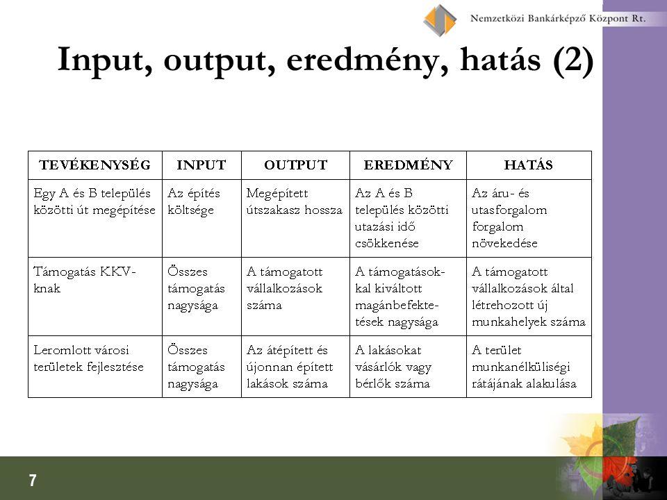 7 Input, output, eredmény, hatás (2)