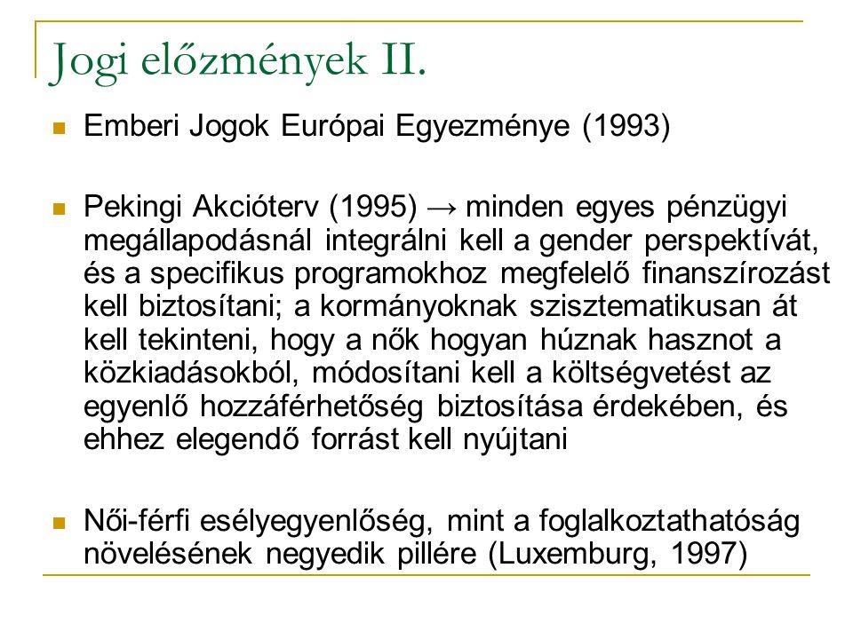 Jogi előzmények II.