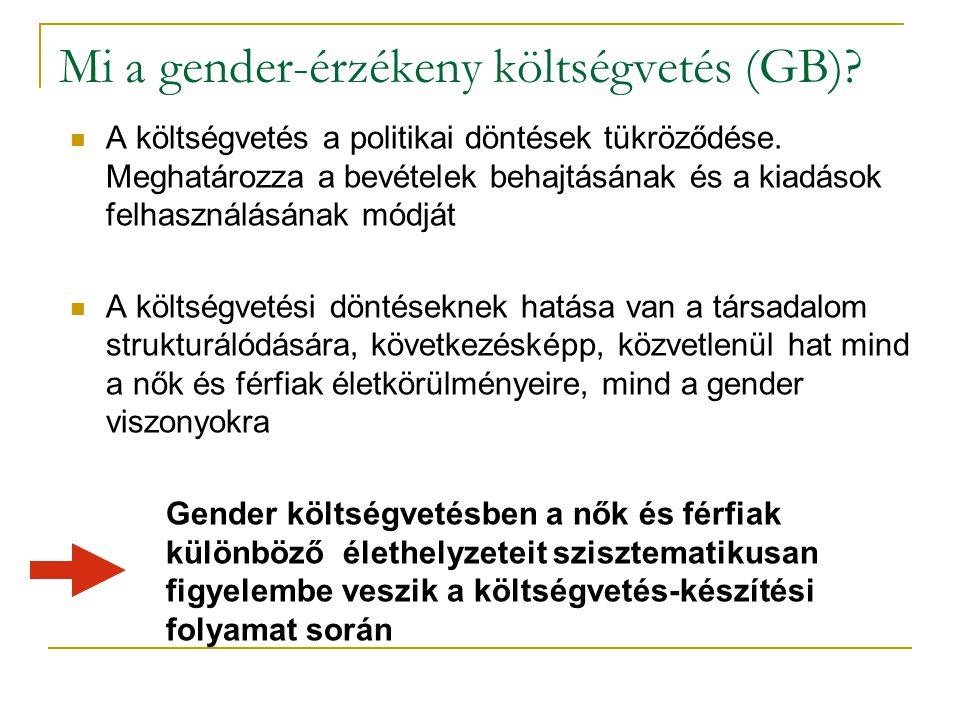 Mi a gender-érzékeny költségvetés (GB).A költségvetés a politikai döntések tükröződése.