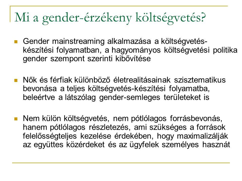 Mi a gender-érzékeny költségvetés.