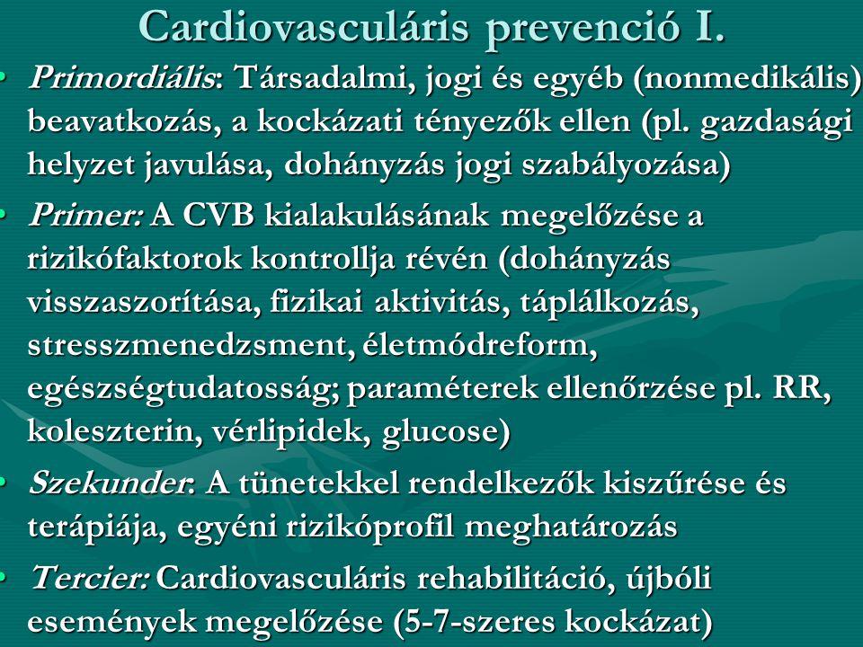 Cardiovasculáris prevenció I.