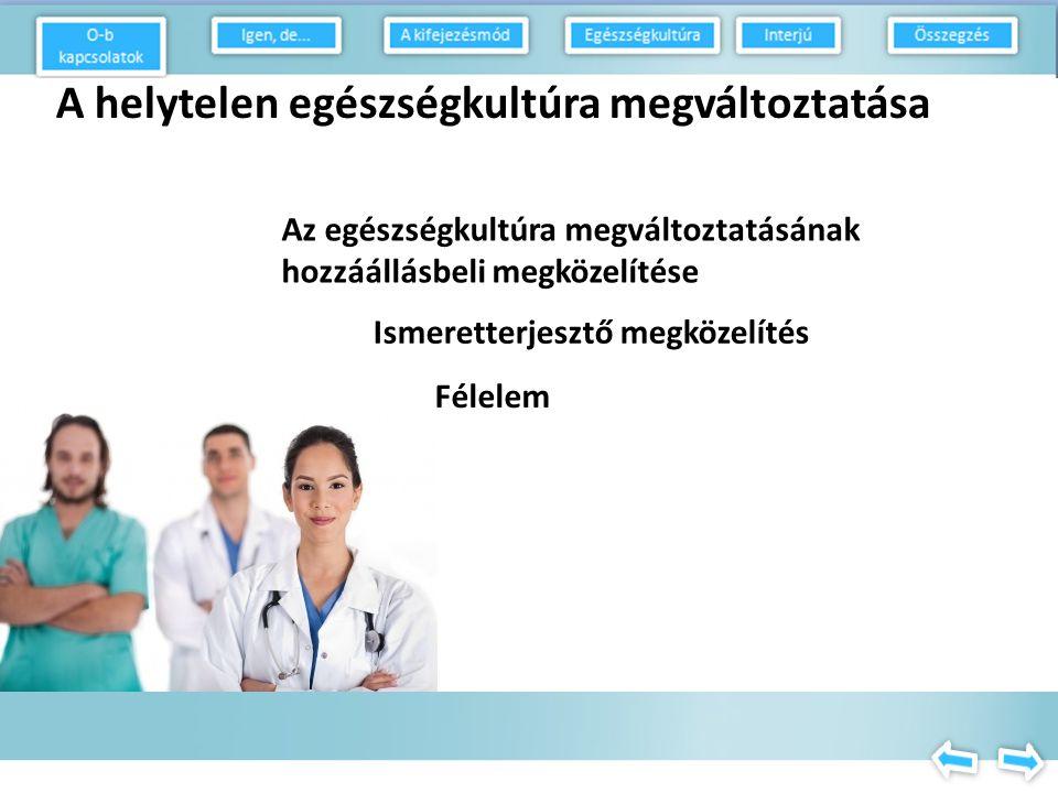 Az egészségkultúra megváltoztatása Hja, a szokás.