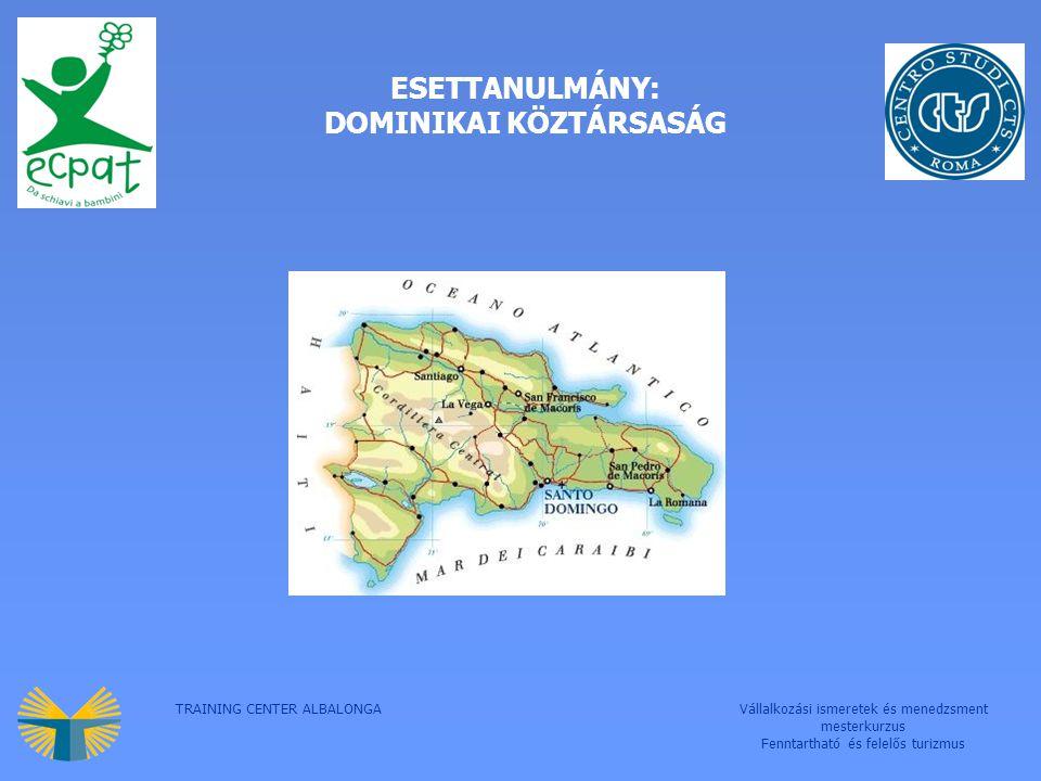 TRAINING CENTER ALBALONGAVállalkozási ismeretek és menedzsment mesterkurzus Fenntartható és felelős turizmus ESETTANULMÁNY: DOMINIKAI KÖZTÁRSASÁG