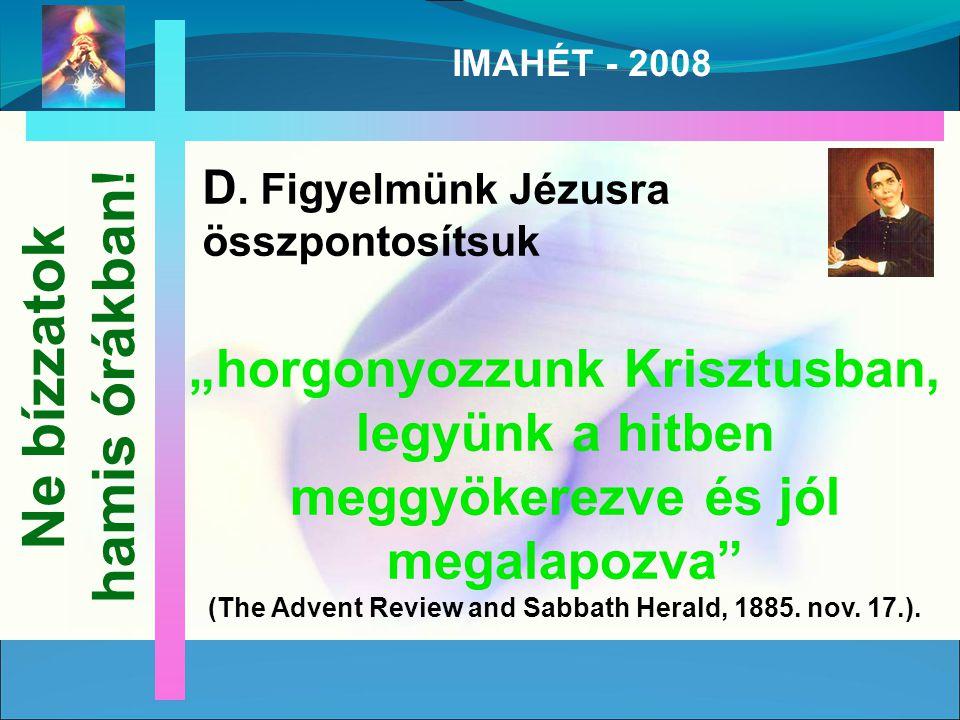 IMAHÉT - 2008 D.