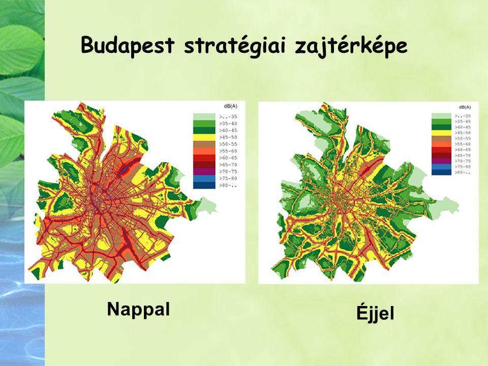 Budapest stratégiai zajtérképe Nappal Éjjel