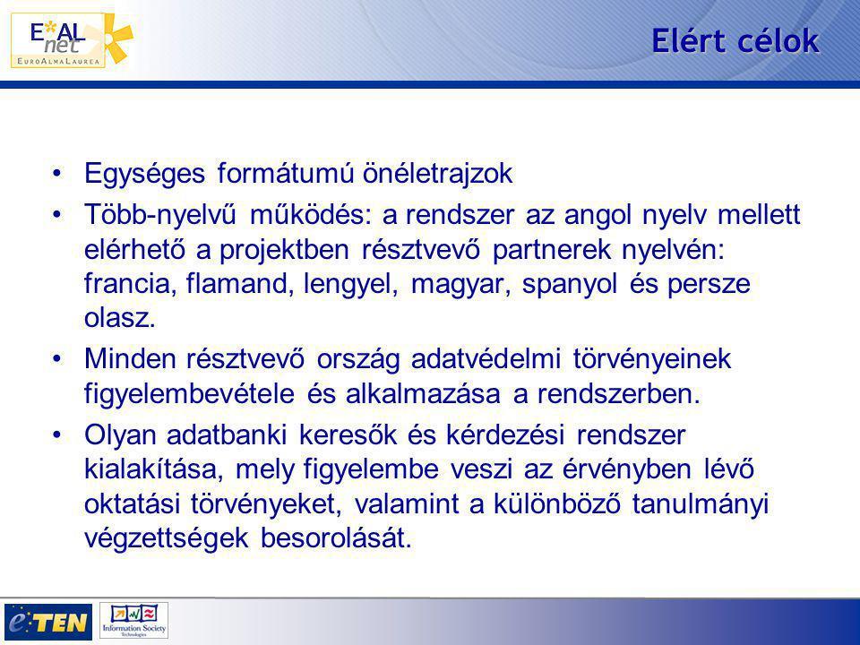 Az AlmaLaurea előnyei GYORSASÁG/AZONNALISÁG: a diplomások önéletrajzai azonnal elérhetőek, real-time, várakozás nélkül.