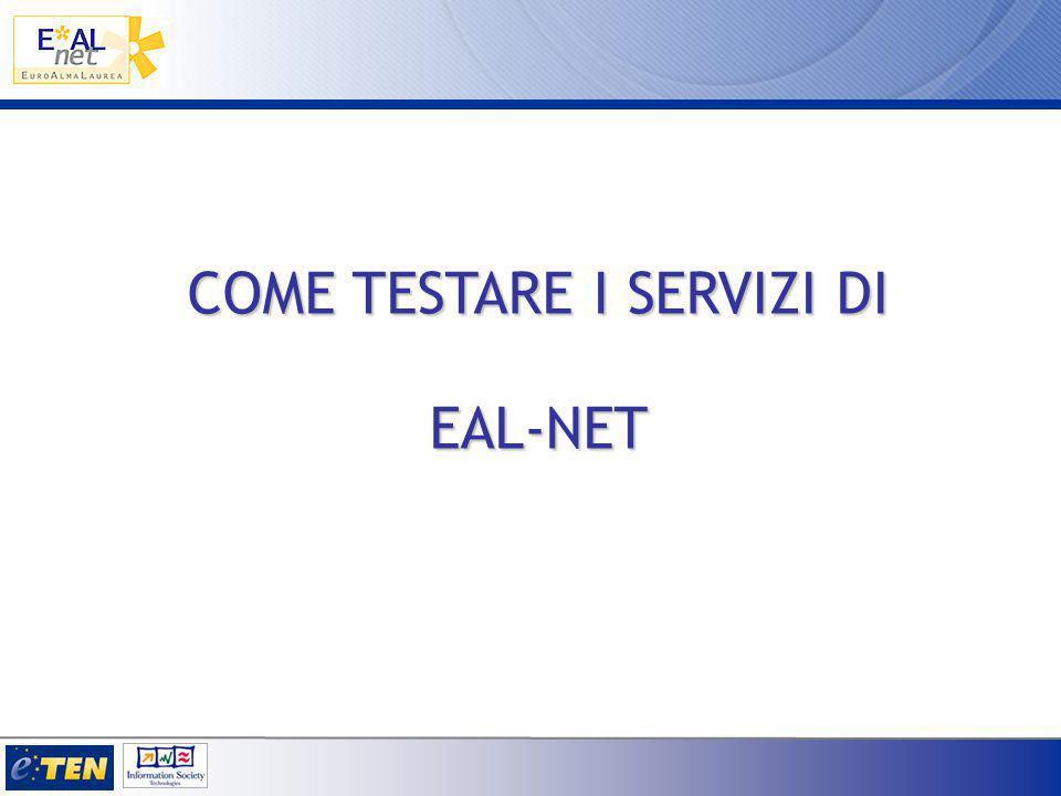 COME TESTARE I SERVIZI DI EAL-NET