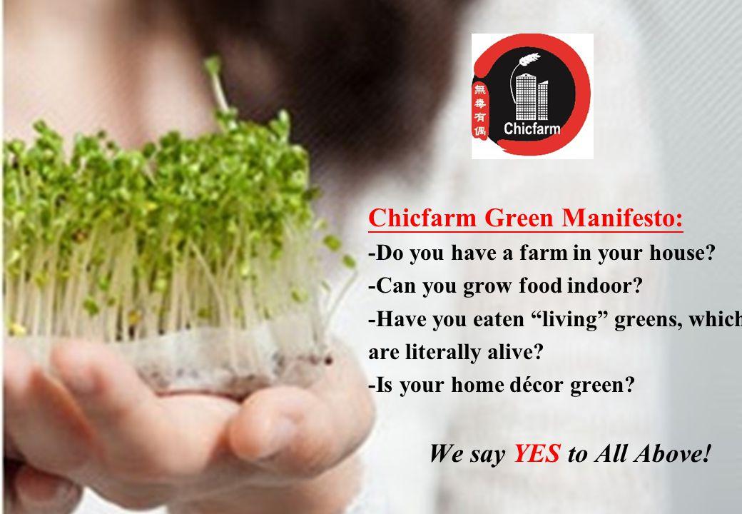 Az Audi Hungaria elvárásai és részvétele a magyar regionális repülőterek fejlesztésében Chicfarm Green Manifesto: -Do you have a farm in your house.