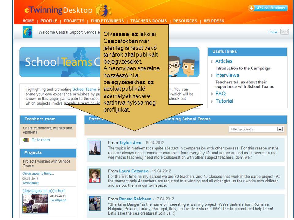 Olvassa el az Iskolai Csapatokban már jelenleg is részt vevő tanárok által publikált bejegyzéseket.