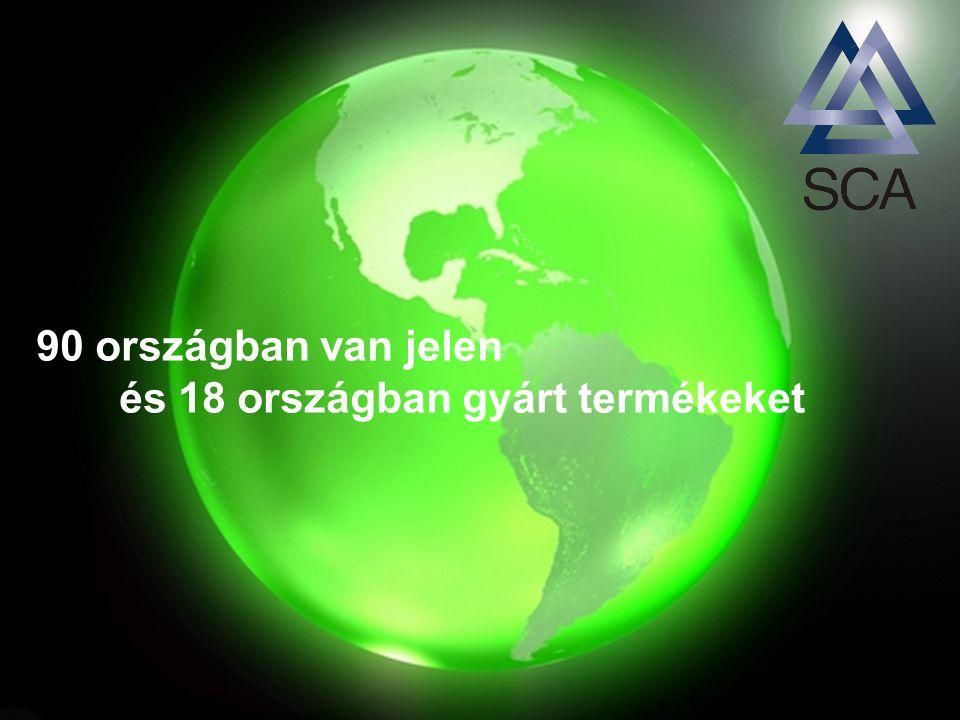 90 országban van jelen és 18 országban gyárt termékeket