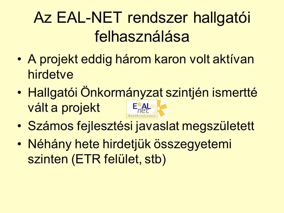 Miért jó az EAL-NET rendszer a hallgatóknak.