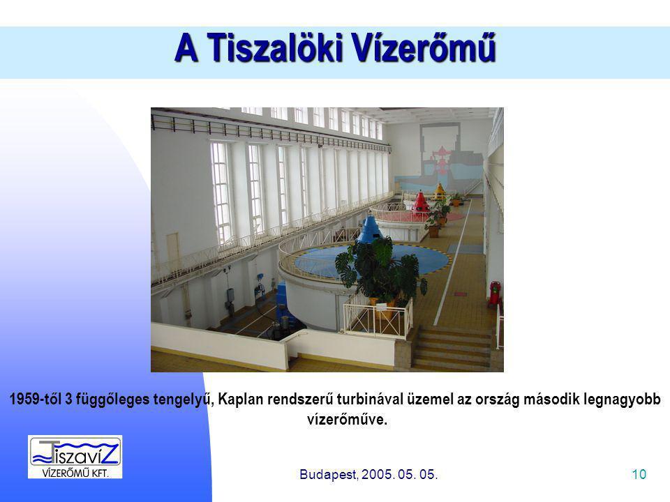 10 A Tiszalöki Vízerőmű Budapest, 2005. 05. 05.